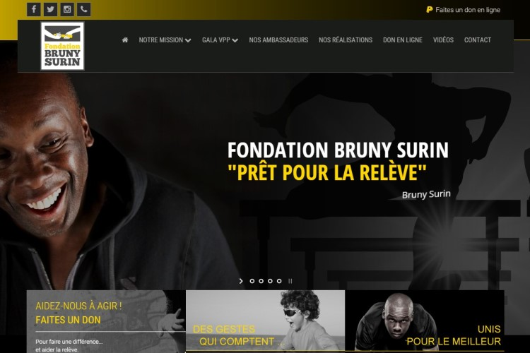 Conception Web pour la Fondation Bruny Surin